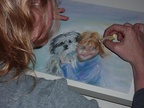 Portraits, pastel, watercolor, ...